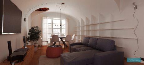 Render1_PrivateHouse_unaVolta/@Torino/2015 - ESAASTUDIO